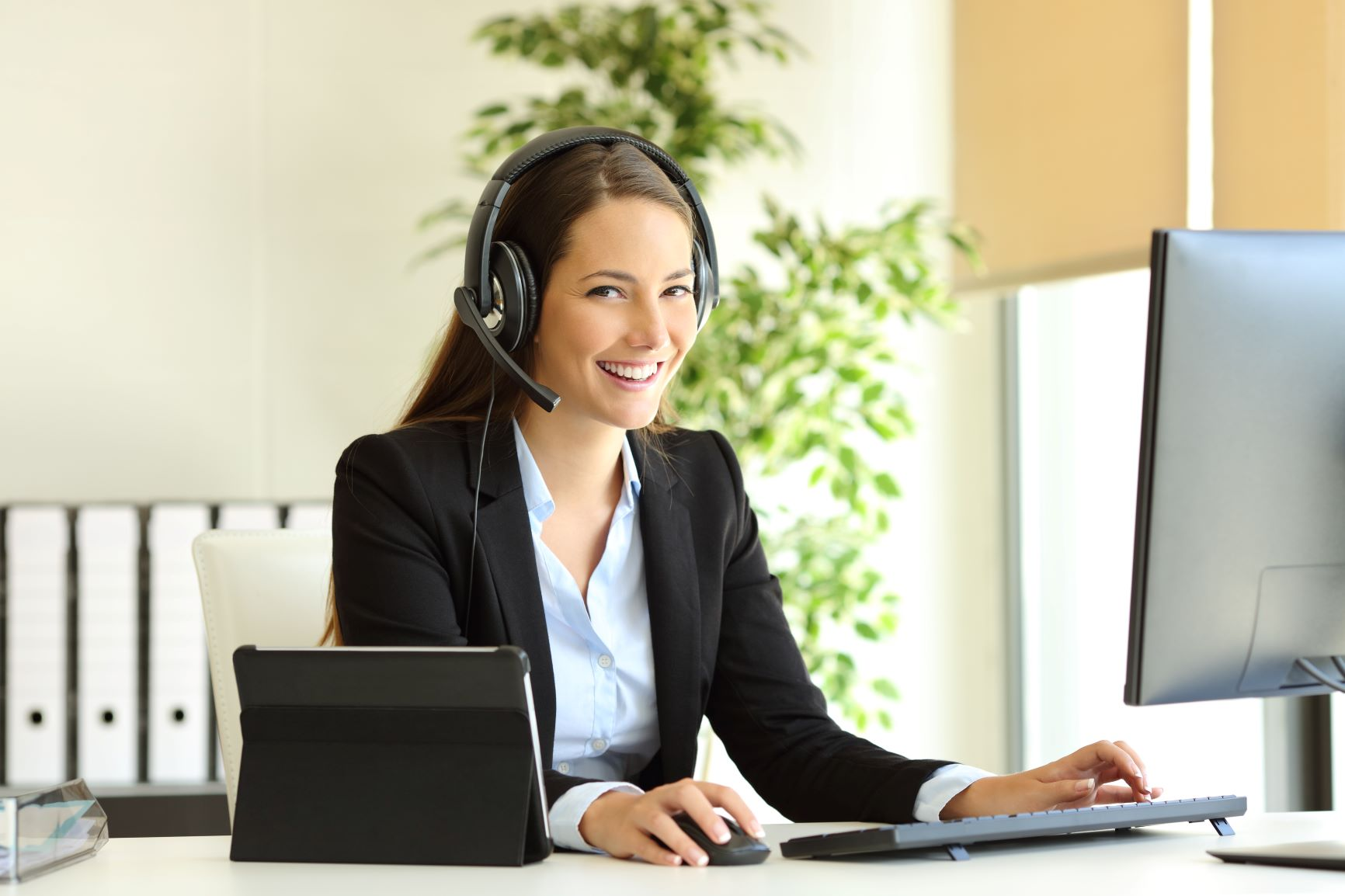 Image of a virtual receptionist