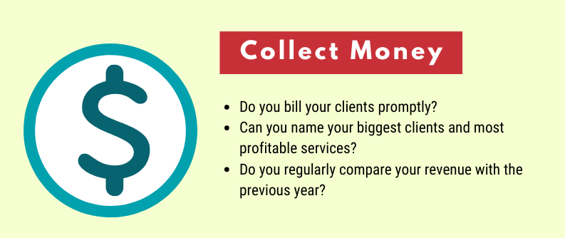 Accounting practices for collecting client payments