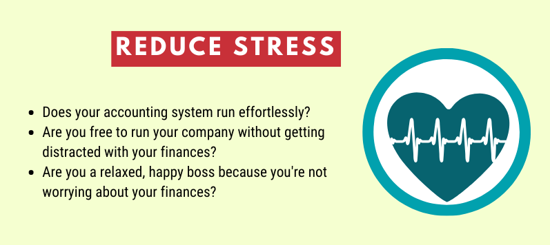 Accounting quiz questions about reducing stress